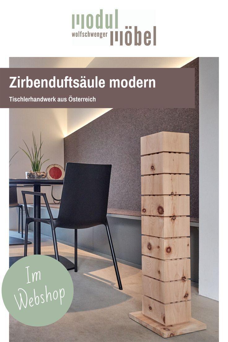 Zirbenduftsaule Raumluft Erfrischen Mit Zirbenholz In 2020 Zirben Holz Naturliches Wohnen