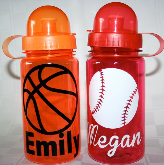 Sports / School Spirit Kids Water Bottle by 2MBowtique on Etsy, $8.00