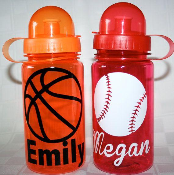 Sports / School Spirit Kids Water Bottle by 2MBowtique on Etsy, $6.00