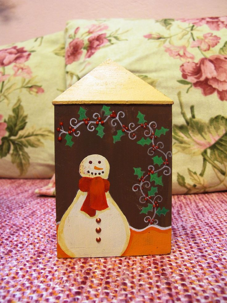 Christmas, gingerbread house, wooden money box www.facebook.com/SofiaFileasArt