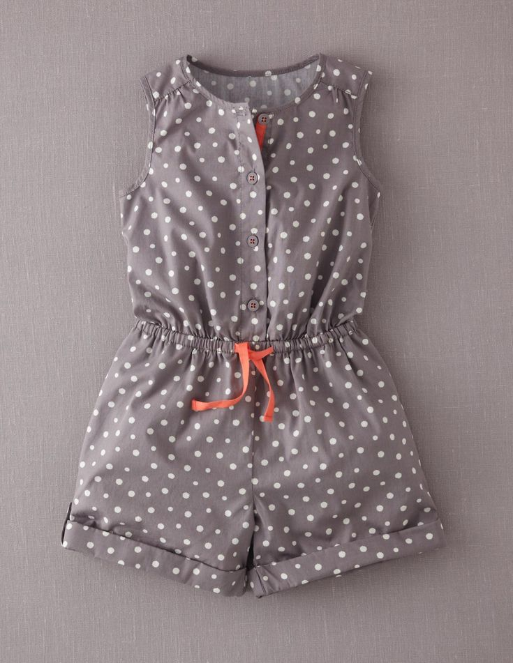 Spotty Playsuit for a girl!