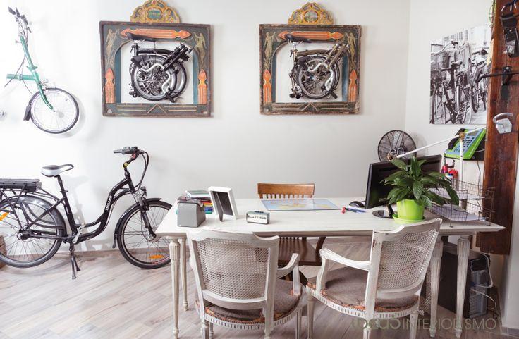 Decoración Vintage en tienda de Bicicletas. | Decoración de interiores en Valencia