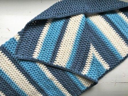 Hæklet Babytæppe i puff stitches Tæppet er hæklet i puff stitches som giver en smuk og et vamset udseende. Puffstitches er helt perfekt til tæpper og lign. Du finder en guide i puff stitches HER Tæppet er hæklet i 8/4 bomuldsgarn på nål 3 Der er brugt ca. 375 g garn fordel i 3 farver. Færdig mål 60×70 cm Ønskes tæppet bredere eller længere så er det ganske enkelt at ligge flere masker til i bredden og flere rækker på i længden 🙂 Slå 158 luftmasker op. Hækler du meget stramt, kan du me...