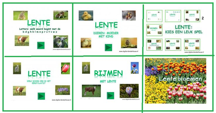 6 digibordlessen over de lente. http://digibordonderbouw.nl/index.php/themas/lente/lentedigibordlessen