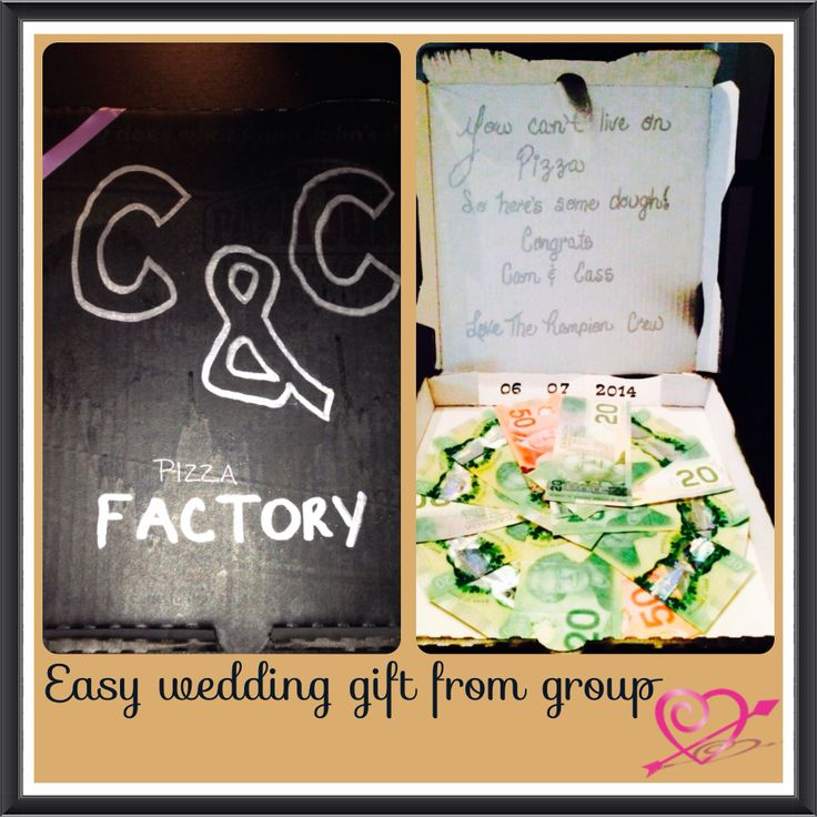 Easy wedding gift from a group