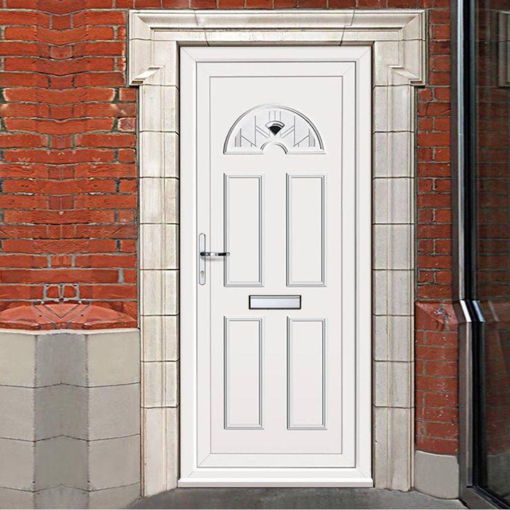 Exterior Pvc Lomond One Roma Door. #whitedoor #whitefrontdoor #whitefrontpvcdoor