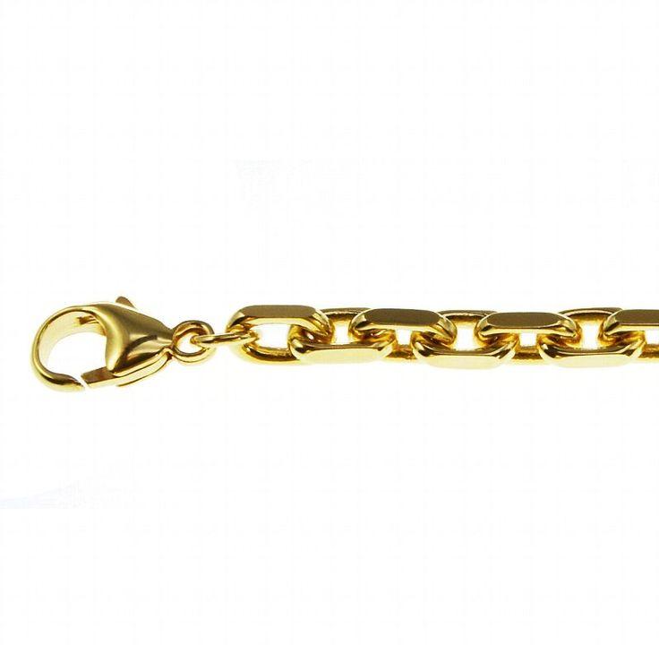 Edel Neu 55cm Ankerkette 333 Gelbgold 2,5mm Massiv Halskette Echt kaufen bei Hood.de - Material Gelbgold Farbe Gold