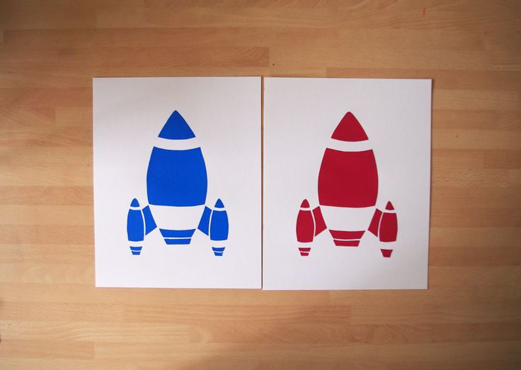 ©Helen J Taylor Design Rocket Screen Prints