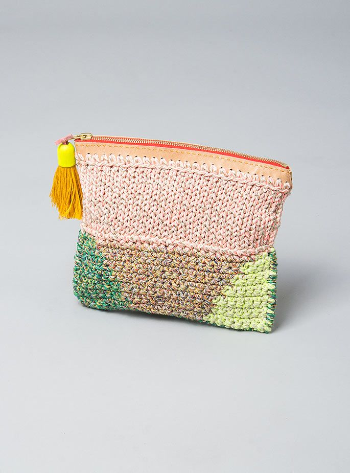 Crochet + knit purse #inspiration