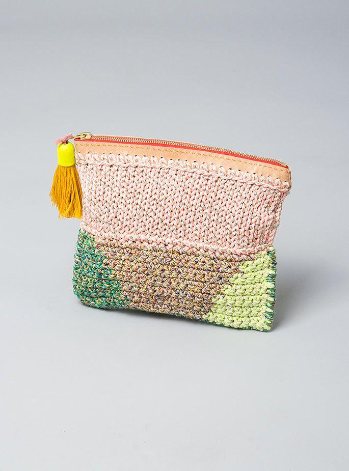 Crochet + knit purse #CraftInspiration