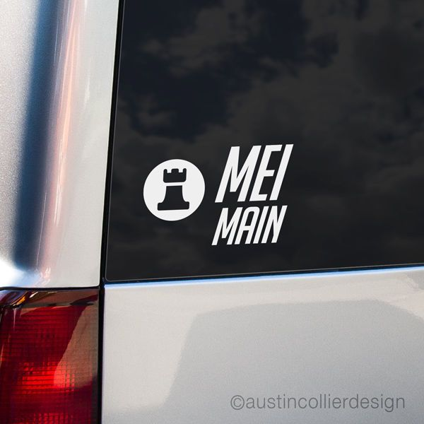 MEI MAIN Vinyl Decal Car Truck Window Laptop Sticker - Overwatch eSports PC Meme #AustinCollierDesign