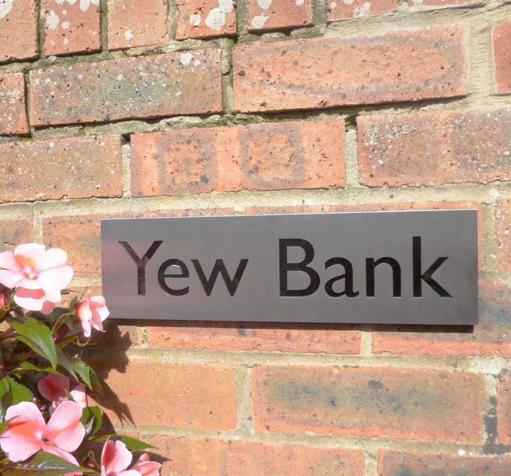 House name - made to order in the UK with bespoke design service. Stainless Steel house name.