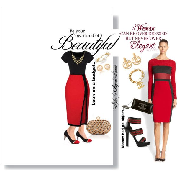 A fashion look from February 2015 featuring Black Halo dresses, Alexander McQueen sandals and Chanel clutches. Browse and shop related looks.