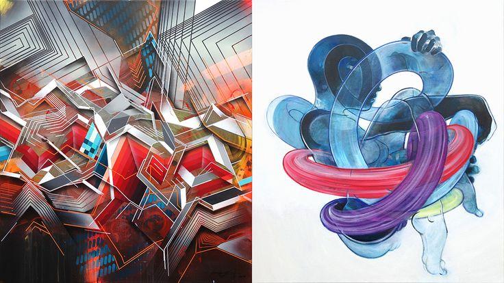 """Collab between Peter Max-Jakobsen & Morten Andersen - together MA/X. """"Header 2"""", on view in December 2014, Miami"""