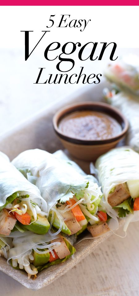 5 Easy Vegan Lunches.
