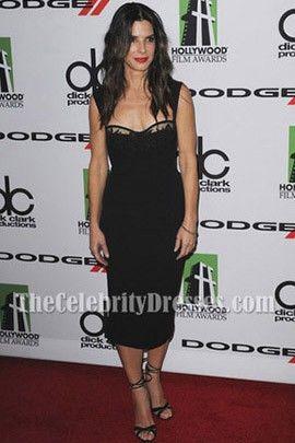 Sandra Bullock Dark Navy Cocktail Dress 17th Annual Hollywood Film Awards