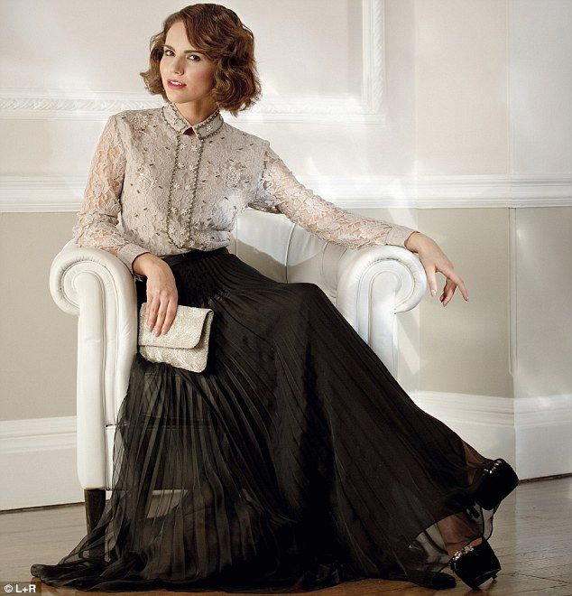 Downton Abbey on the High Street: Lord Grantham's girls bring Edwardian elegance back | Mail Online