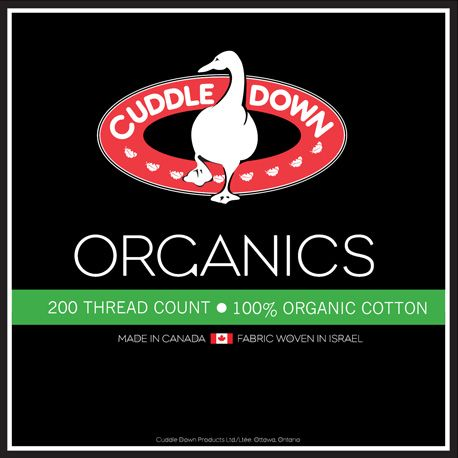 Organic 200 TC by Cuddle Down Canada, available in White, Cream, Pink, Fuchsia, Taupe, Light Blue, Dark Blue, Berry, Green, Lavender and Slate