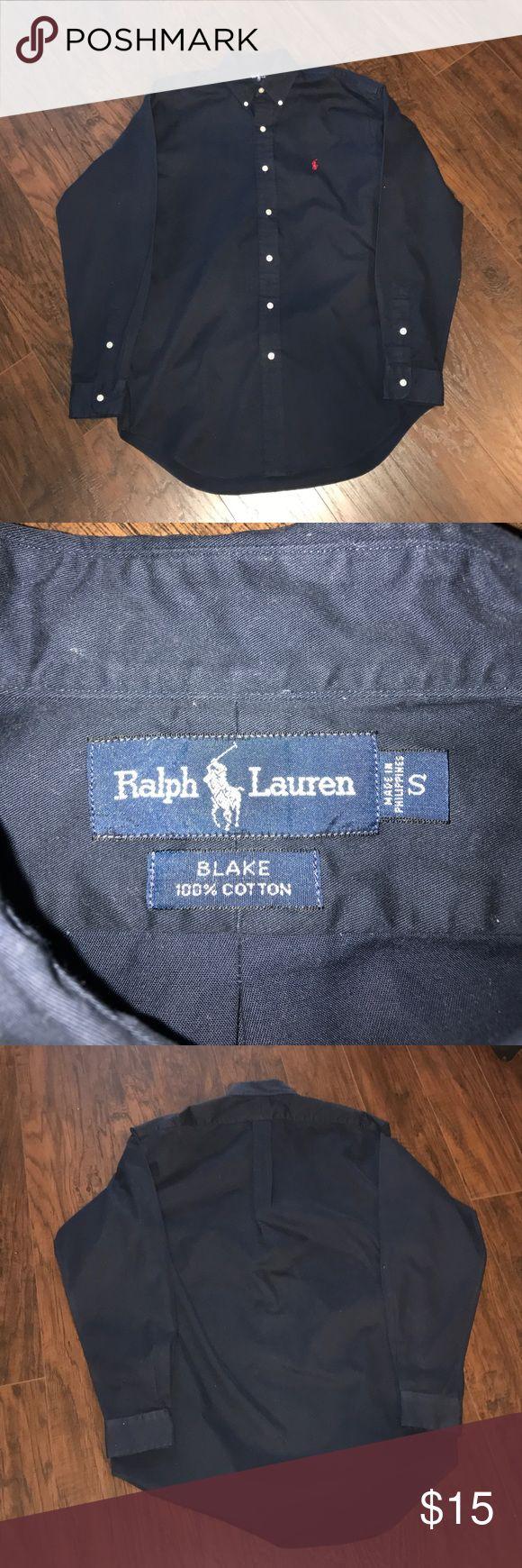 Polo Ralph Lauren Navy Button Down Size small. GUC Polo Ralph Lauren Navy Button Down Size small. GUC Polo by Ralph Lauren Shirts