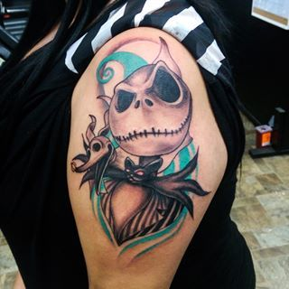 118 best images about nightmare before christmas tattoos for Jack skellington and sally tattoos