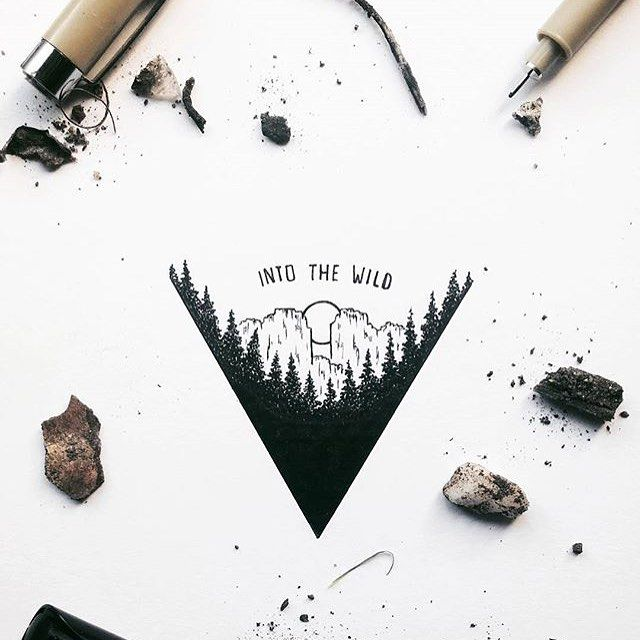 Into The Wild By Xoseroi Designspiration Lettering Art