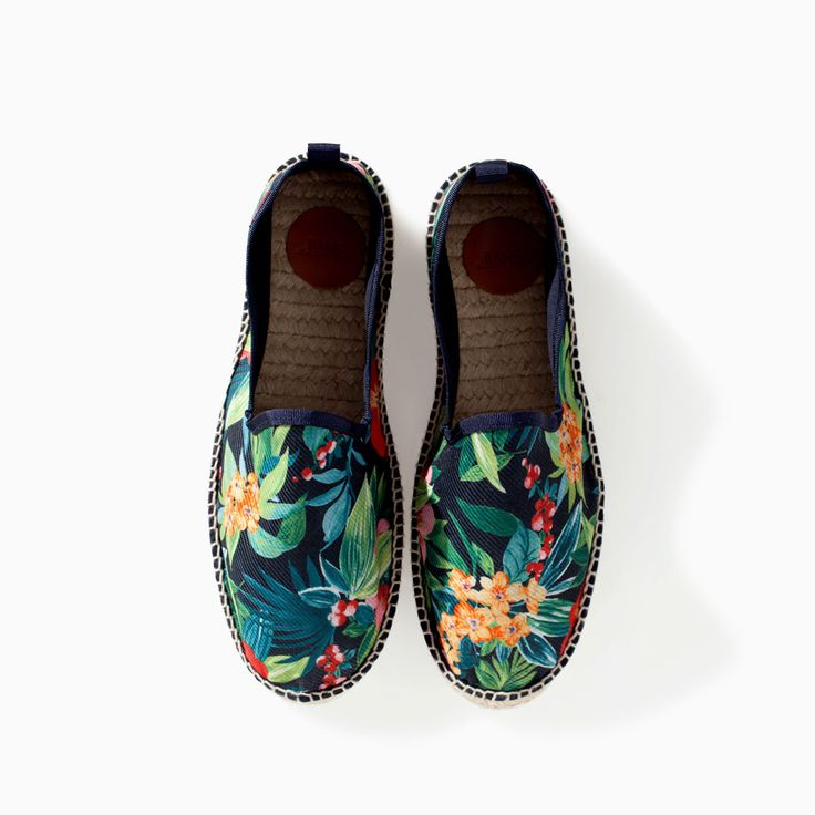 Image 3 of FLORAL SHOE WITH ESPADRILLE SOLE from Zara