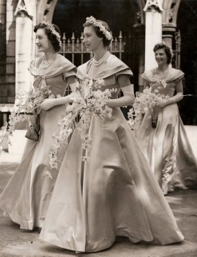 hrh princess margaret as a bridesmaid at the wedding of