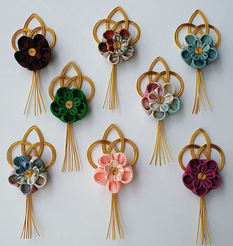 39 best images about japanese decorative mizuhiki on for Decorative flowers for crafts