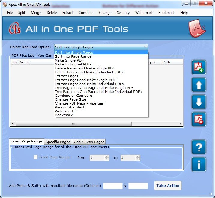 Free apex split pdf to single page Software Downloads at WinPcWorld - http://www.winpcworld.com/business-finance/office-tools/apex-split-pdf-to-single-page-pid68346.php