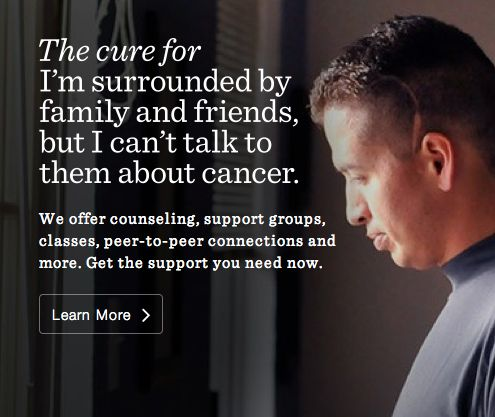 #LIVESTRONG can get you the emotional support you need to deal with your cancer, your way. #DailyCures