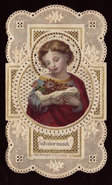 Saviour of the World Holy Card Heaven