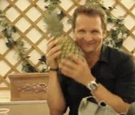 Balthazar petting a pineapple.  I think, at this point, it is a universally accepted fact that the Supernatural fandom has a gif for lite-fucking-rally everything.