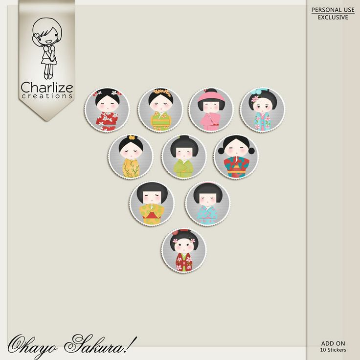 Oscraps :: Shop by Designer :: Charlize Creations :: Ohayo Sakura Stickers