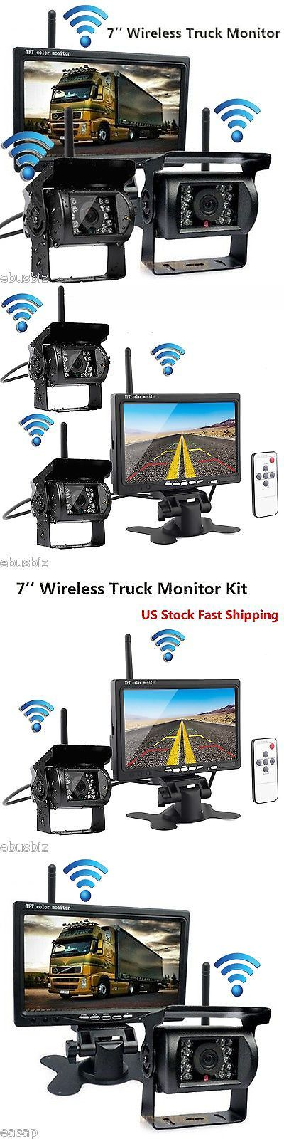 Rear View Monitors Cams and Kits: 7 Hd Monitor+2 Wireless Reversing Ir Backup Camera For Truck Trailer Bus Rv Kit -> BUY IT NOW ONLY: $95.99 on eBay!