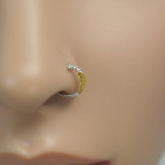 22 g 14K Solid Gold Crystal Jeweled L-en Forme de Nez Stud Piercing Jewelry