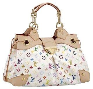 White & colorful purse