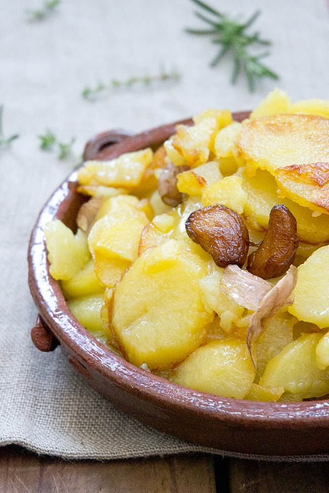 receta de patatas al montó