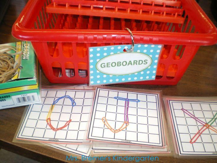 Word Work with Geoboards