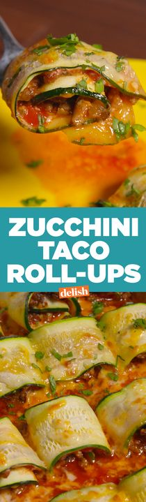 Zucchini Taco Roll-Ups will slash calories from your next Taco Tuesday. Get the recipe from Delish.com.
