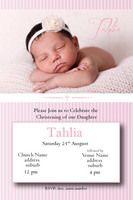 Blessed - Pink..Girls's Christening Invitation #invitations #christening