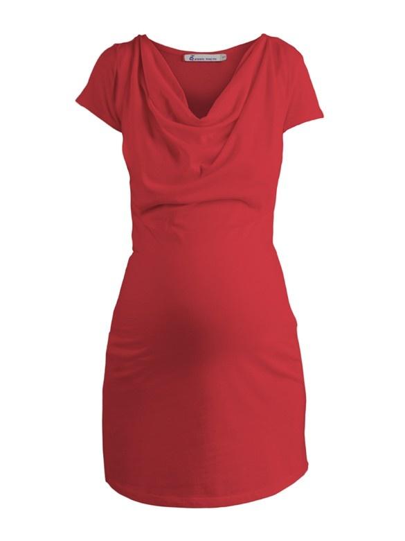 Cotton Jersey Tunika červená - Queen Mum   BabyBelly.sk   Tehotenská a materská móda