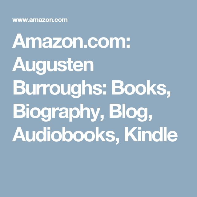 Amazon.com: Augusten Burroughs: Books, Biography, Blog, Audiobooks, Kindle