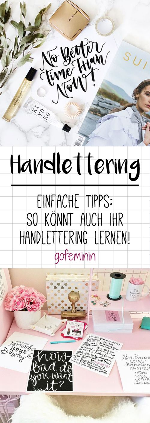 DIY-Trend Handlettering: So lernt ihr wunderschön zu schreiben