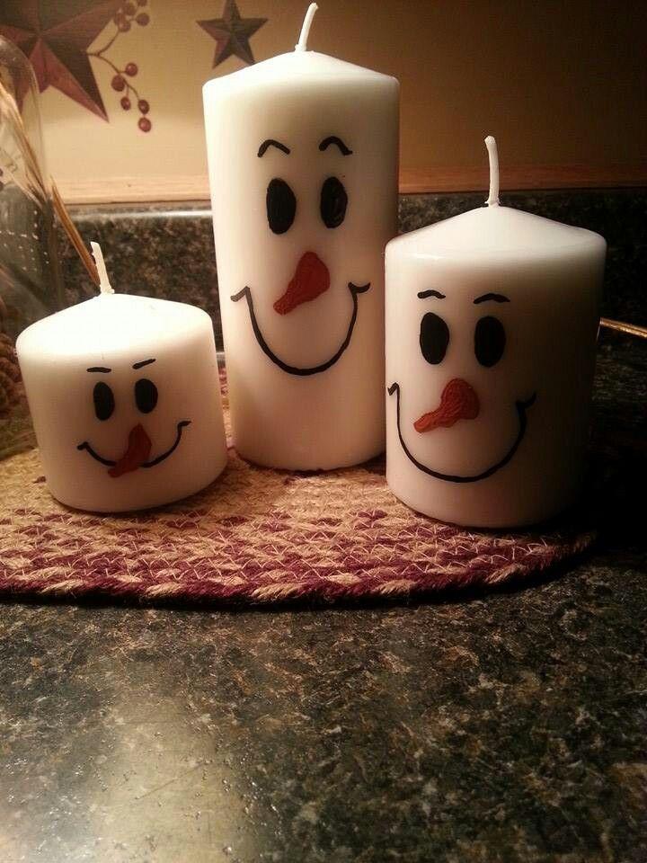 Snowmen candles                                                                                                                                                                                 Mais