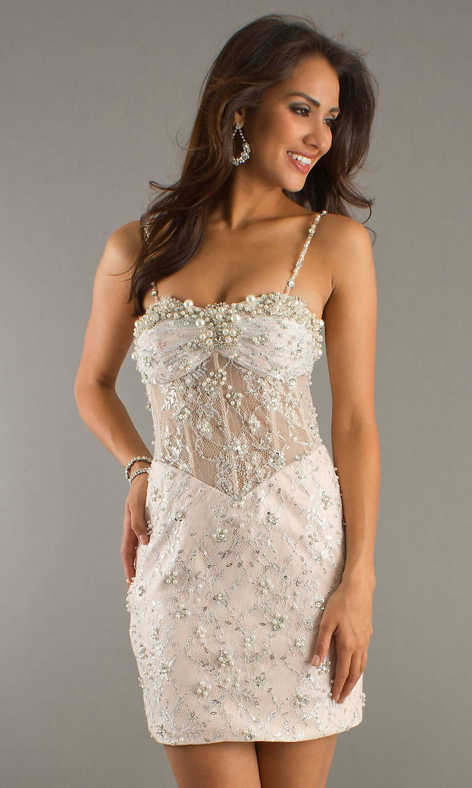 Beaded see through corset short spaghetti strap sweetheart for See through corset top wedding dress