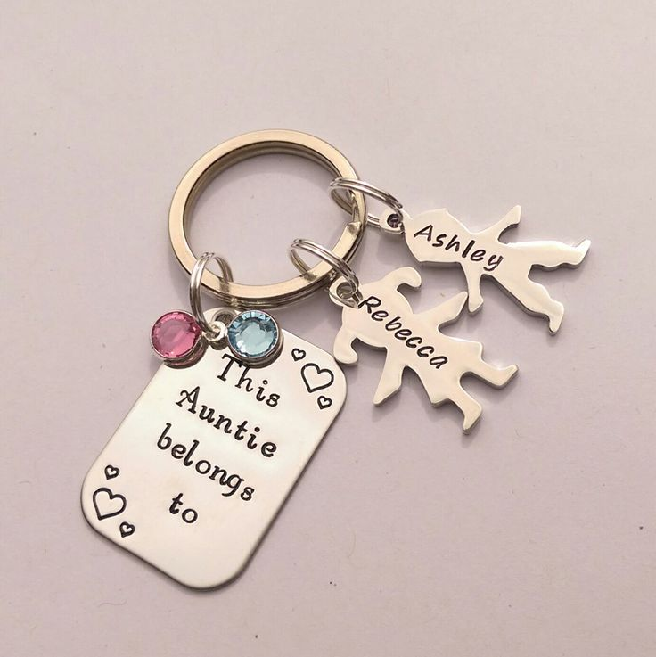 Personalised Auntie present - personalized Auntie keychain gift - This Aunt Auntie belongs to - personalised Auntie keyring gift by EmsStampedJewellery on Etsy https://www.etsy.com/listing/241359291/personalised-auntie-present-personalized