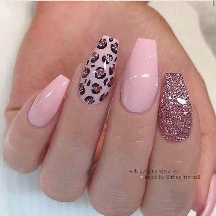 30 Nails Designs Inspirations In 2020 Leopard Print Nails Cheetah Print Nails Pink Acrylic Nails