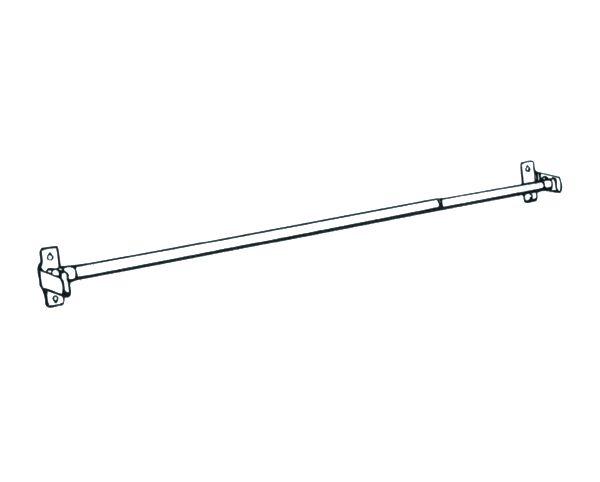 """Graber 28-48"""" 7/16"""" Round Sash Cafe Rod - White Rod Brass Brackets"""