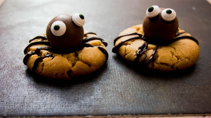 Fun to make and easy too. Mine didn't come out perfect, as usual I didn't give myself enough time. With the Lindt outlet nearby I need to make them again! http://www.aspicyperspective.com/chocolate-peanut-butter-spider-cookies/