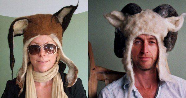 необычные шапки из войлока